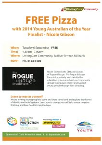 Learn to Master Yourself with Young Australian of the Year Finalist - Nicole Gibson @ UnitingCare Community | Millbank | Queensland | Australia